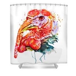 Turkey Head Shower Curtain by Marian Voicu