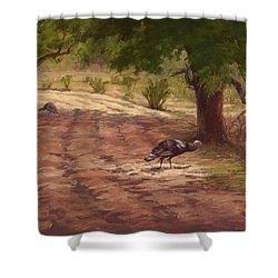 Turkey Tracks Shower Curtain
