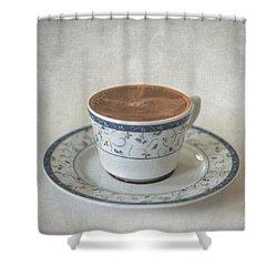 Turkish Coffee Shower Curtain by Taylan Apukovska