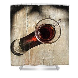 Turkish Tea On A Wooden Table Shower Curtain