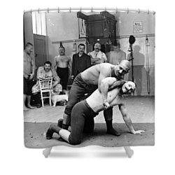 Turkish Wrestlers 1904 Shower Curtain