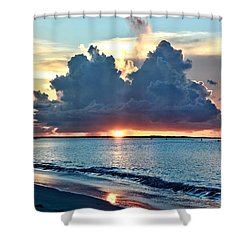 Turks And Caicos Grace Bay Beach Sunset Shower Curtain