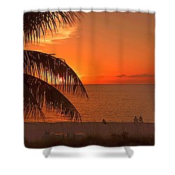 Turks And Caicos Sunset Shower Curtain by Stephen Anderson