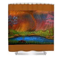 Turmoil Shower Curtain by Sheri Keith