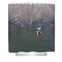 Turn And Burn Shower Curtain