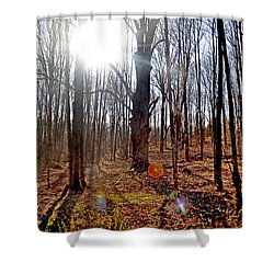 Turn Back Time Shower Curtain by Donna Petersen