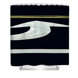 Turn Into Dont Pass Traffic Lines Shower Curtain by Gary Slawsky