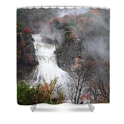 Turner Falls And Steam Shower Curtain