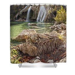 Turner Falls In The Arbuckles Shower Curtain