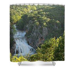 Turner Falls Morning Light Shower Curtain