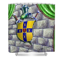 Turner Family Crest Shower Curtain