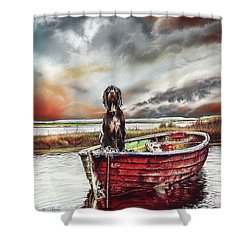Turner's Dog Shower Curtain