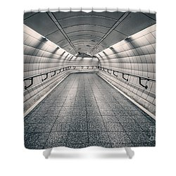 Turning Point Shower Curtain by Evelina Kremsdorf