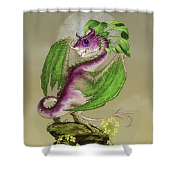 Turnip Dragon Shower Curtain