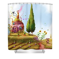 Turnips And Trolls Shower Curtain