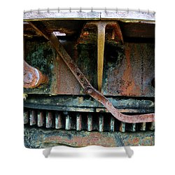 Turntable Gear Shower Curtain