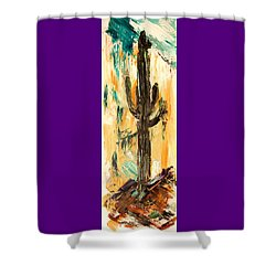 Turquoise And Topaz Shower Curtain