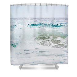 Turquoise Beauty Shower Curtain by Shelby Young