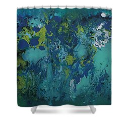 Turquoise Blue Shower Curtain