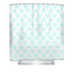 Turquoise Fern Array Small Shower Curtain