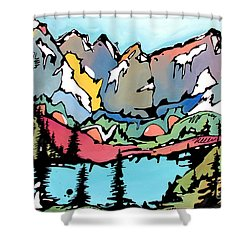 Turquoise Lake At Mt. Elbert Shower Curtain