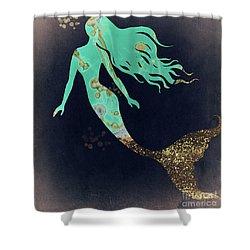 Turquoise Mermaid Shower Curtain
