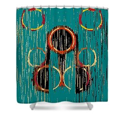 Turquoise Rings Shower Curtain