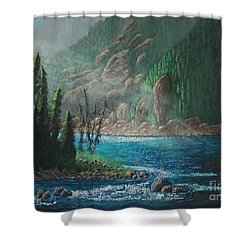 Turquoise River Shower Curtain