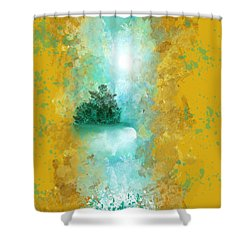 Turquoise River Shower Curtain by Jessica Wright
