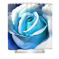 Turquoise Rose Shower Curtain