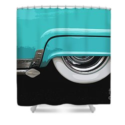Turquoise Skirt Shower Curtain