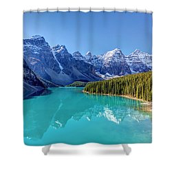Turquoise Splendor Moraine Lake Shower Curtain