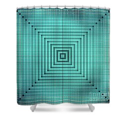 Turquoise Square Shower Curtain