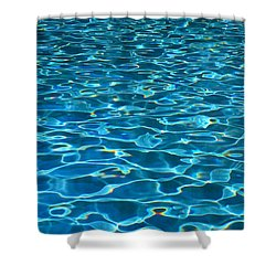 Turquoise Water Ripples Shower Curtain by Kyle Rothenborg - Printscapes
