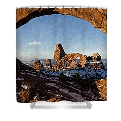 Turret Arch Shower Curtain