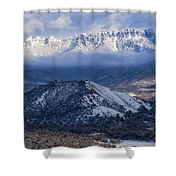 Turret Ridge In Winter Shower Curtain