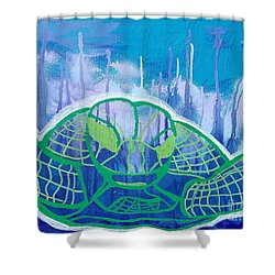 Turtle Shower Curtain by Andres Pola