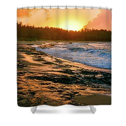 Turtle Bay Sunset 2 Shower Curtain