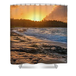 Turtle Bay Sunset 3 Shower Curtain