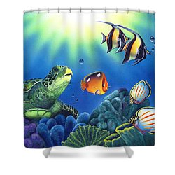 Turtle Dreams Shower Curtain by Angie Hamlin