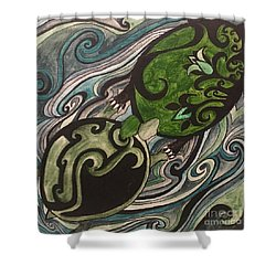 Turtle Love Shower Curtain