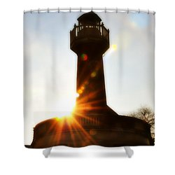 Turtle Rock Light House Shower Curtain by Bill Cannon