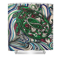 Turtle Time All Alone Shower Curtain