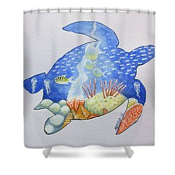 Turtle's World Shower Curtain