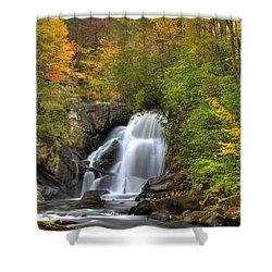 Turtletown Creek Falls Shower Curtain by Debra and Dave Vanderlaan