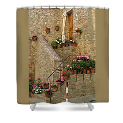 Tuscan Cottage Shower Curtain by Donna Corless