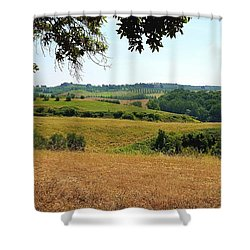 Shower Curtain featuring the photograph Tuscan Country by Valentino Visentini