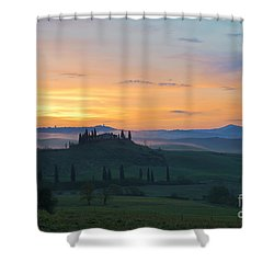 Tuscan Morning Shower Curtain by Yuri Santin
