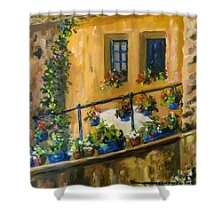 Tuscan Porch Shower Curtain