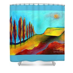 Tuscan Sentinels Shower Curtain by Elizabeth Fontaine-Barr